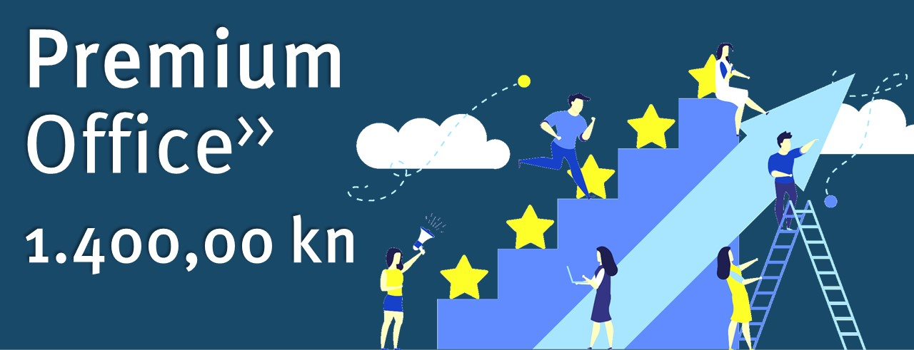Virtualni ured Premium 1.400 kn mjesečno