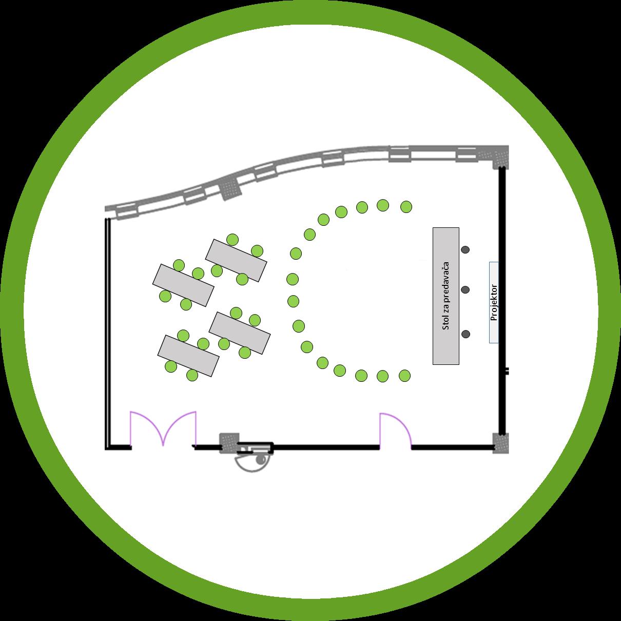 Dvorana Kaktus postav radionica 16 osoba